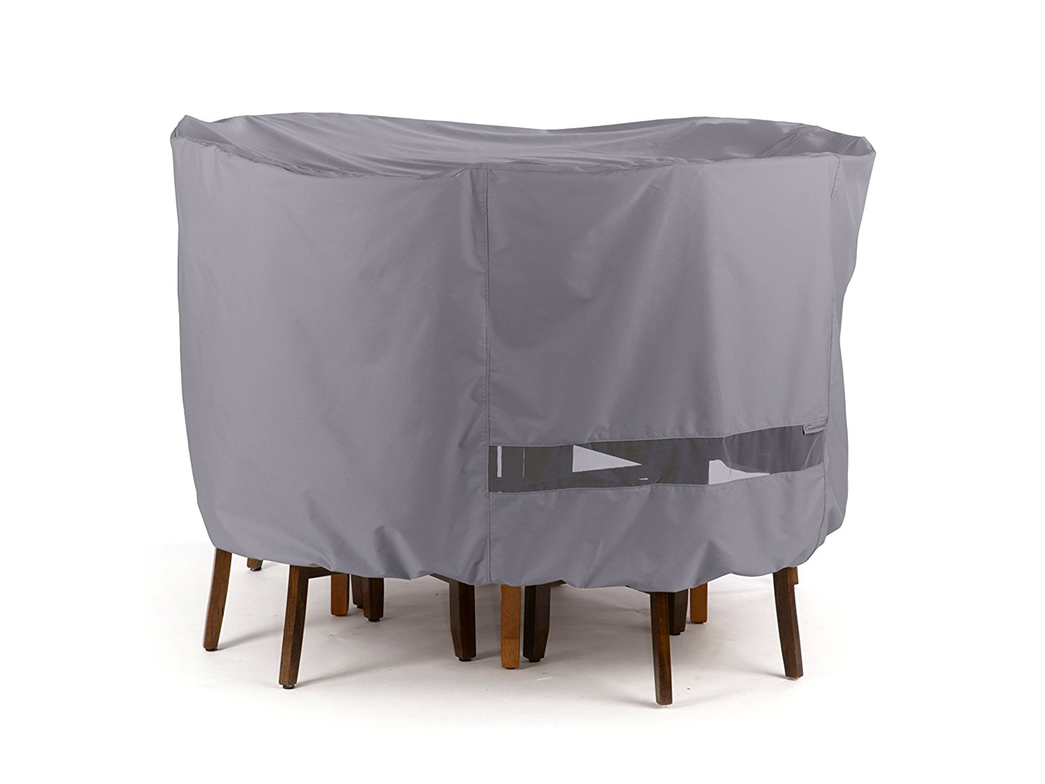 CoverMates – Oval Bistro Table/Chair Set Cover – 58W x 36D x 30H – Elite Collection – 3 YR Warranty – Year Around Protection - Charcoal