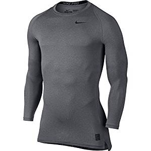 e4403f6fd Get Quotations · Nike Men's Pro Cool Long Sleeve Compression Shirt (Carbon  Heather, Medium)