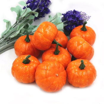 16 Pcs/Pack Mini Citrouille En Mousse Pour Thanksgiving Automne Halloween  Décor De Table Vase