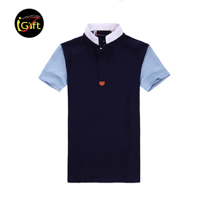 iGift Men's Cotton Short-Sleeved T-Shirt Custom Business polo shirt
