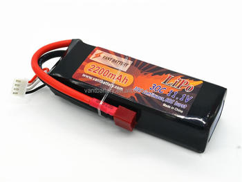Vant-Battery Best price 2200mAh 3S 11.1V 30C LiPo EC3 rc lipo battery