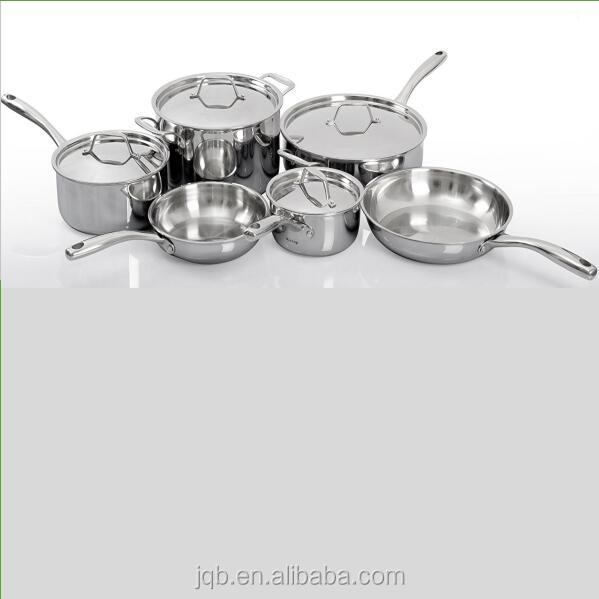 10 Pcs Stainless Steel Induction Cookware Set for halogen and gas stove