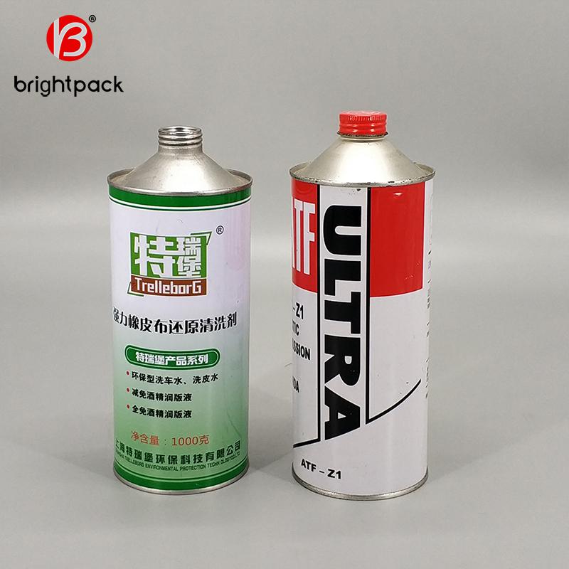 1L Putaran Mesin Dapat Motor Minyak Kaleng dengan Tutup Plastik 1 Liter, dicetak Rem Minyak Produsen
