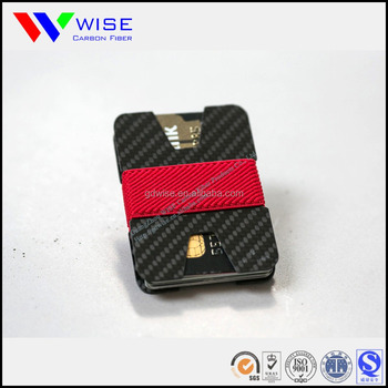 personalized 3K carbon fiber gifting card holder factory