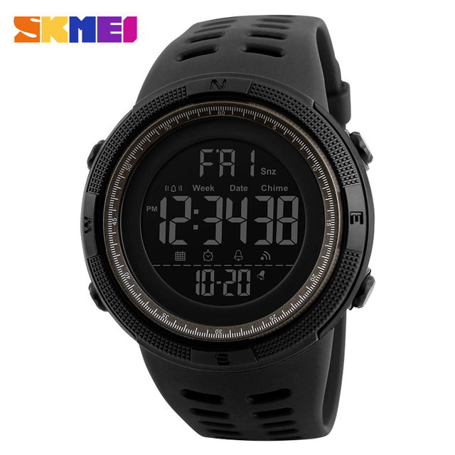 Promotional SKMEI 1251 ABS Case 50M Waterproof Countdown Chrono LED Digital Man Mountain Wristwatch Relogio Masculino