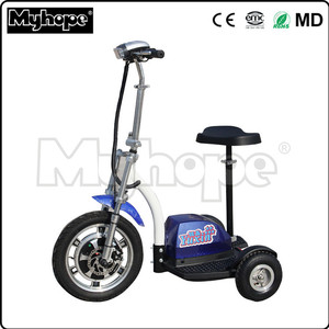 Handicapped 500w 48v smart 3 wheel electric mobility scooter for elder / adult electric 3 wheel scooter with CE