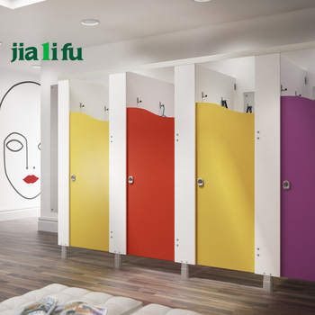 Waterproof Hpl Panel Kids Toilet Cubicles Partition System