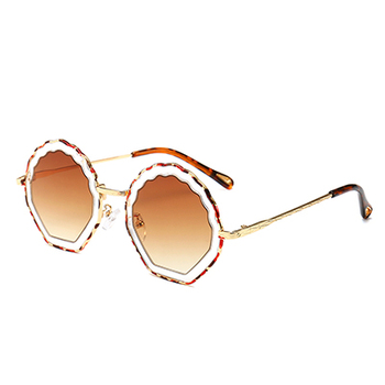 eb6c50a43 Women Fashion Round Frame Sunglasses 2019 New Retro Designer Sun Glasses  Candy Colors Shades Eyewear Men