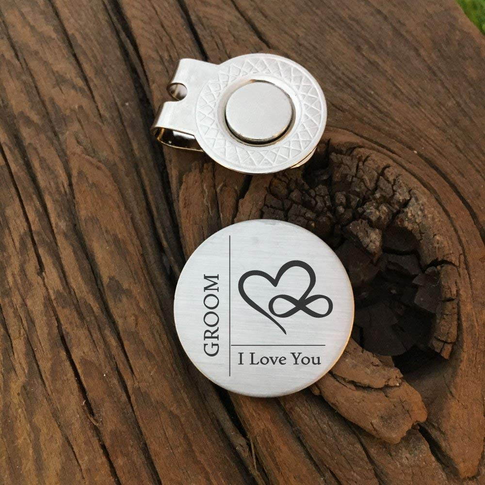 Get Quotations Groom I Love You Golf Gift For Future Husband Wedding Day Ball Marker