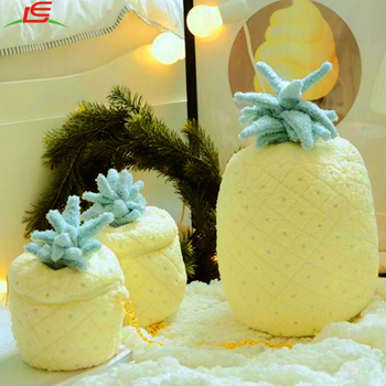 Cute pineapple soft plush toy kids girls messenger coin phone bag