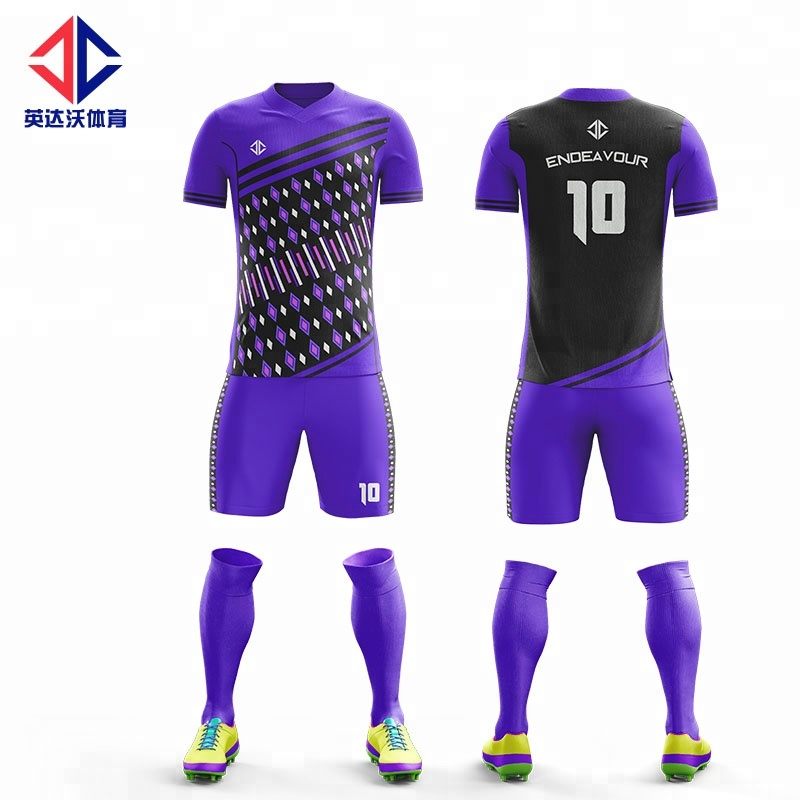 100% Polyester Sublimation Football Jersey Hommes De Football Maillot Personnalisé