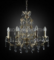 Newest Italian Style Crystal Chandeliers With 6 bulbs Crystal Chandelier Factory