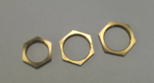 all sizes hexagonal gold color brass self lock nut