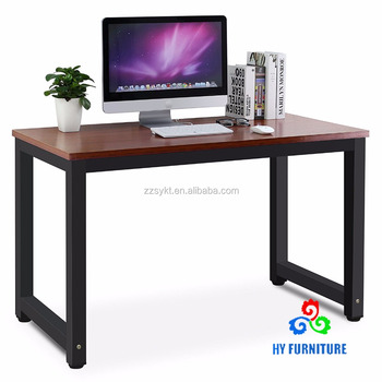 Beau Wooden Office Workstation Metal Corner Desks Computer Laptop Writing Tables