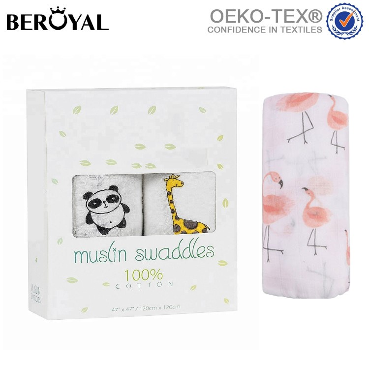 Beroyal breathable newborn baby wrap swaddle blanket baby bamboo swaddle blanket blanket baby muslin swaddle, Various