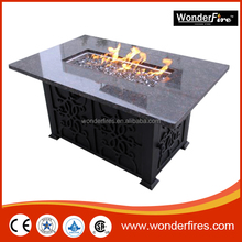 Outdoor Rectangle Gas Fire PIt System/fire bowl/Slate mosaic round mesa heating barbecue table fire pit