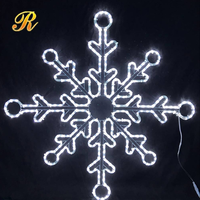 Decorative christmas rope light snowflake for sale