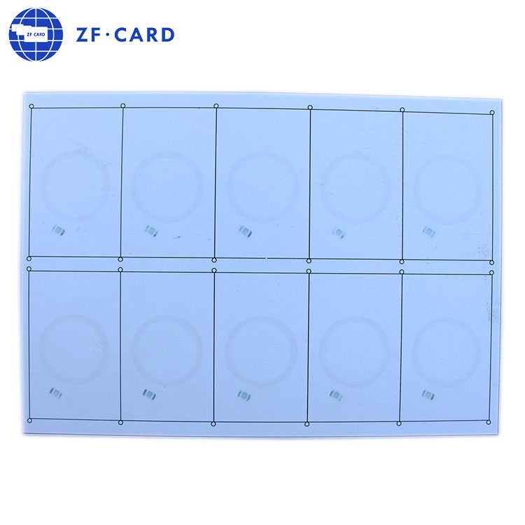 0.45mm 125 khz em4100 RFID kakma/PreLam levha/kart yapımı için PVC levha