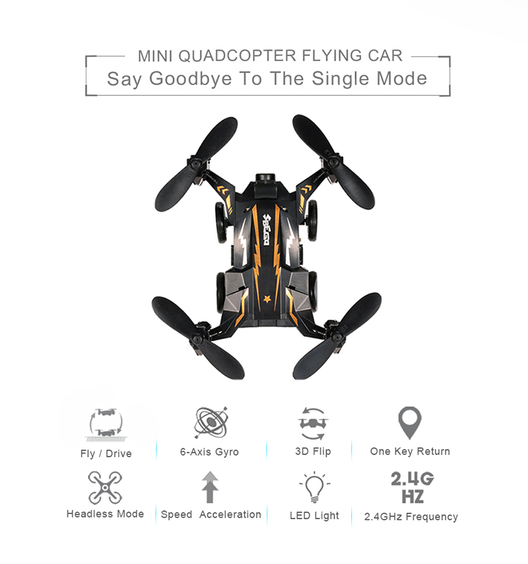 2. SBEGO_132_Black_Mini_Flying_Car_Drone_Mini_Pocket_Drone