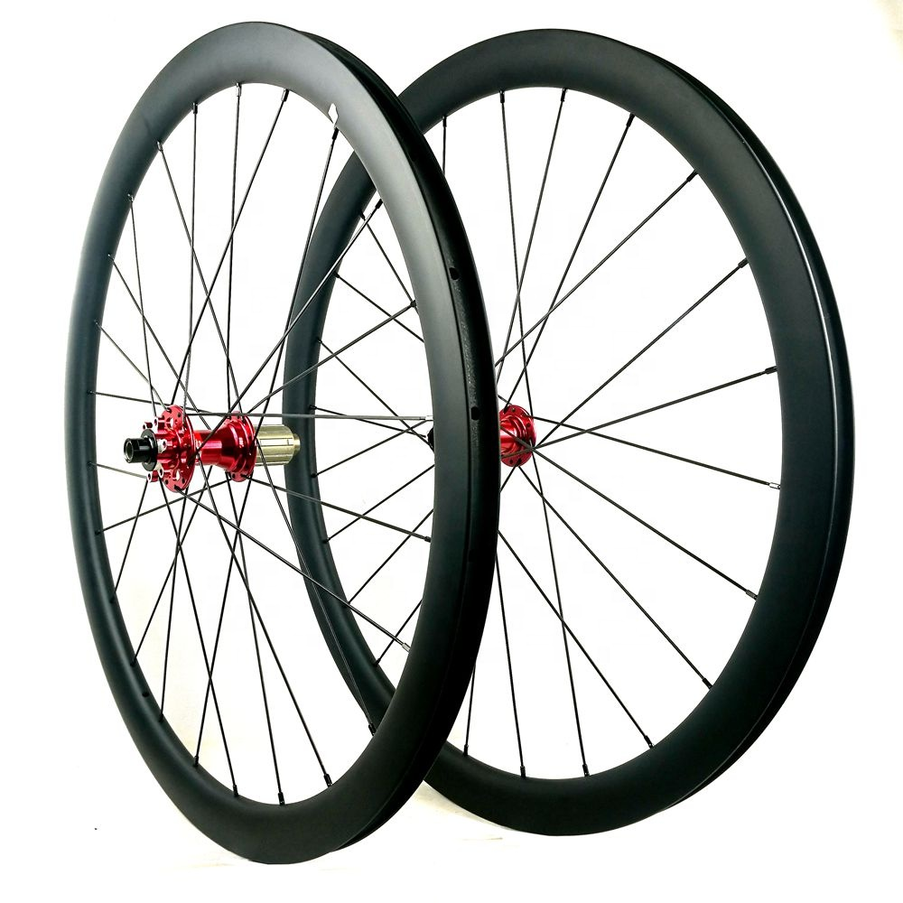High Quality Bicycle Wheels 700C 50MM*25MM Thru Axel Carbon Road Disc Wheel clincher 38mm disc brake wheel carbon