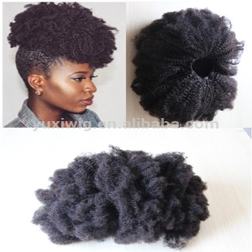 2017 New Drawstring Ponytail Virgin Tight Kinky Curly Closure