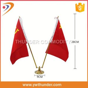 Plain Red Hand Flags, Red Plastic Flags