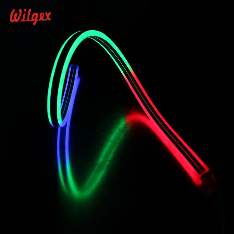 fashion design hot sale sign custom ip68 tube strip lights rope ultra thin mini outdoor linear 24v digital RGB led neon flex