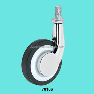 2 inch Plastic Wheel Threaded Screw Caster for Furniture