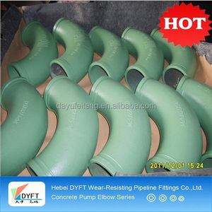 flanged pipe elbow 45 degree for concrete pump spare parts