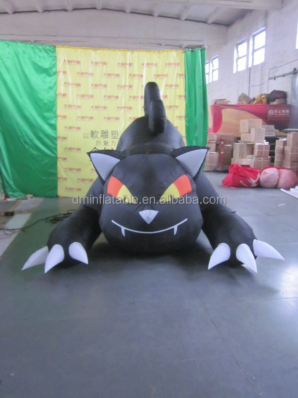 customized new style inflatable halloween accessory of black cat