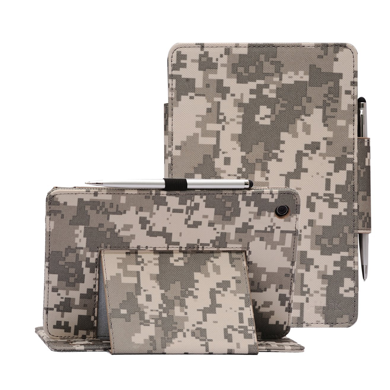 Verizon Asus ZenPad Z8 Case, i-UniK Verizon 2016 Asus ZenPad Z8 Support Sleep Awake Function Model# MSQP008 4G LTE Tablet Case [Bonus Stylus] (ACU CAMO)
