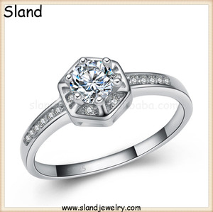 custom sterling silver ring jewelry manufacturer supply CZ Diamond jewellery Cubic Zirconia Engagement Wedding Ring for Women