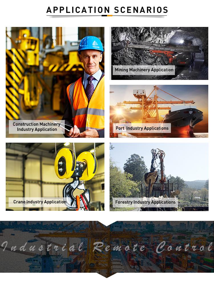 Q series industrial electric wireless radio crane remote control
