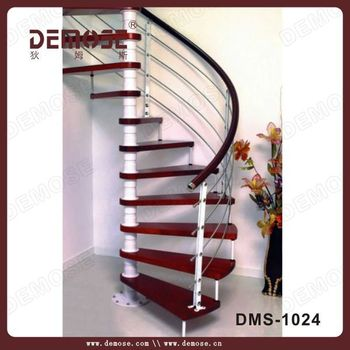 Wooden Spiral Stair Step Covers For Modern House