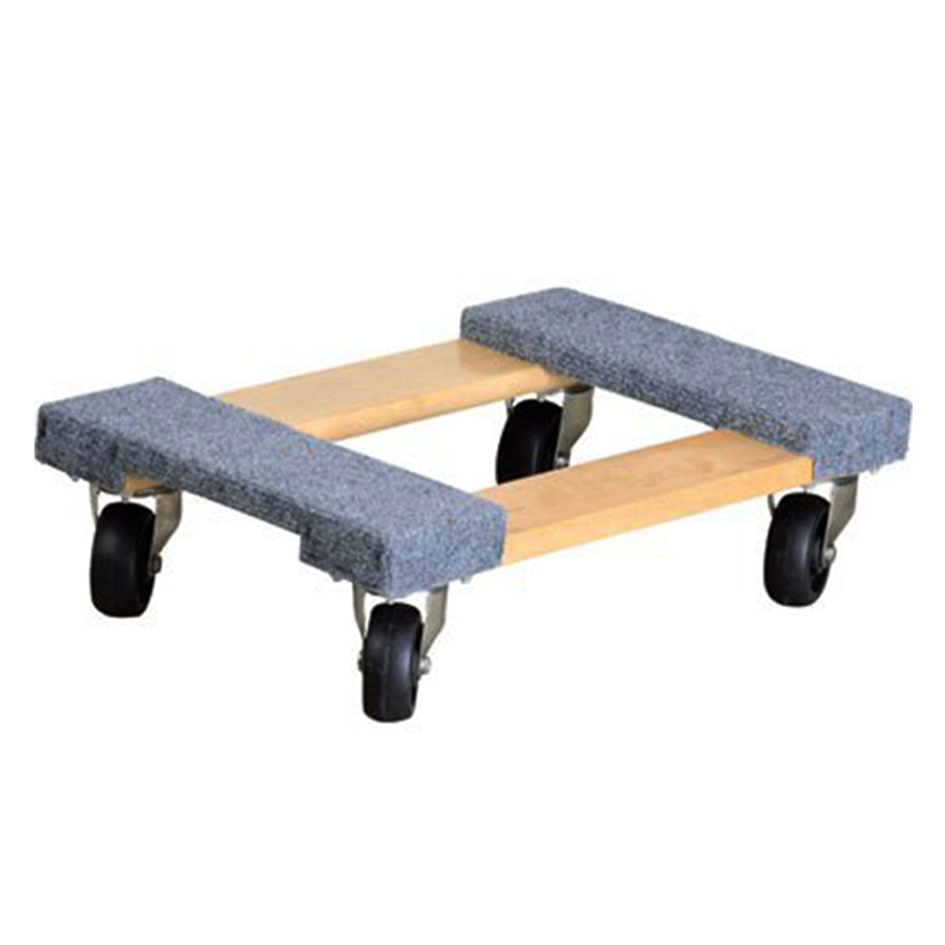 Heavy duty 4 wheel wood furniture dolly