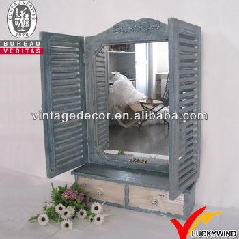 antique wood window decoration frame mirror - Window Frame Mirror