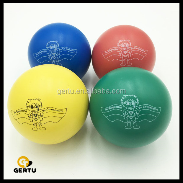 60mm hollow rubber bouncy balls for kids