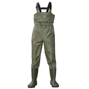 Fulljion Breathable Nylon Waterproof Fishing Chest Wader Waterproof fishing boots and waders