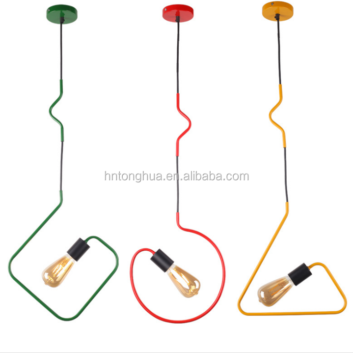 Green/red/ Yellow 3 Colors Pendant Light With Square/round/triangle Shape  Lamps - Buy Pendant Light,Lamp,Pendant Light Modern Product on Alibaba com