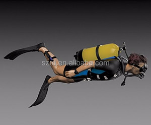 Royal Model 1:35 Scuba Diver - Resin Figure Kit /high quality polyresin figurine