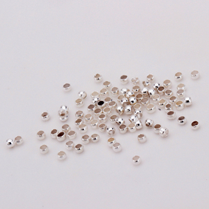Wholesale Jewelry Findings 2-3mm Plated Spacer Beads For Bracelet Necklace Jewelry Making