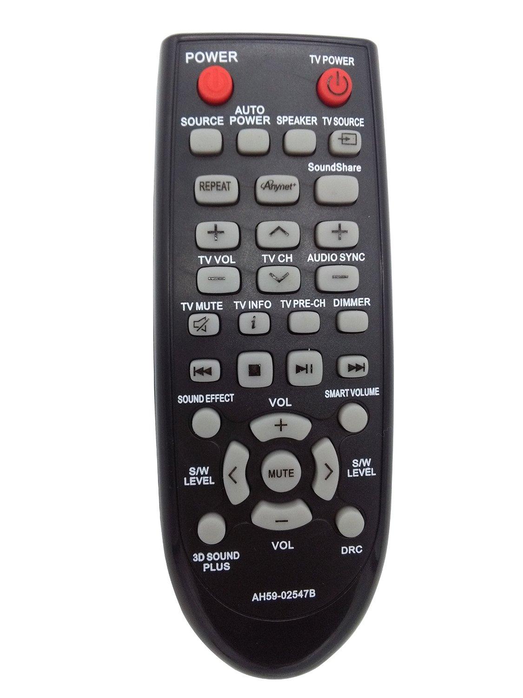 Vinabty New AH59-02547B Replaced Remote fits for Samsung Home Theater Sound Bar System AH59 02547B HWF450ZA HWF450 HWFM45 HWFM45C HW-FM45C HW-FM45 HW-F450