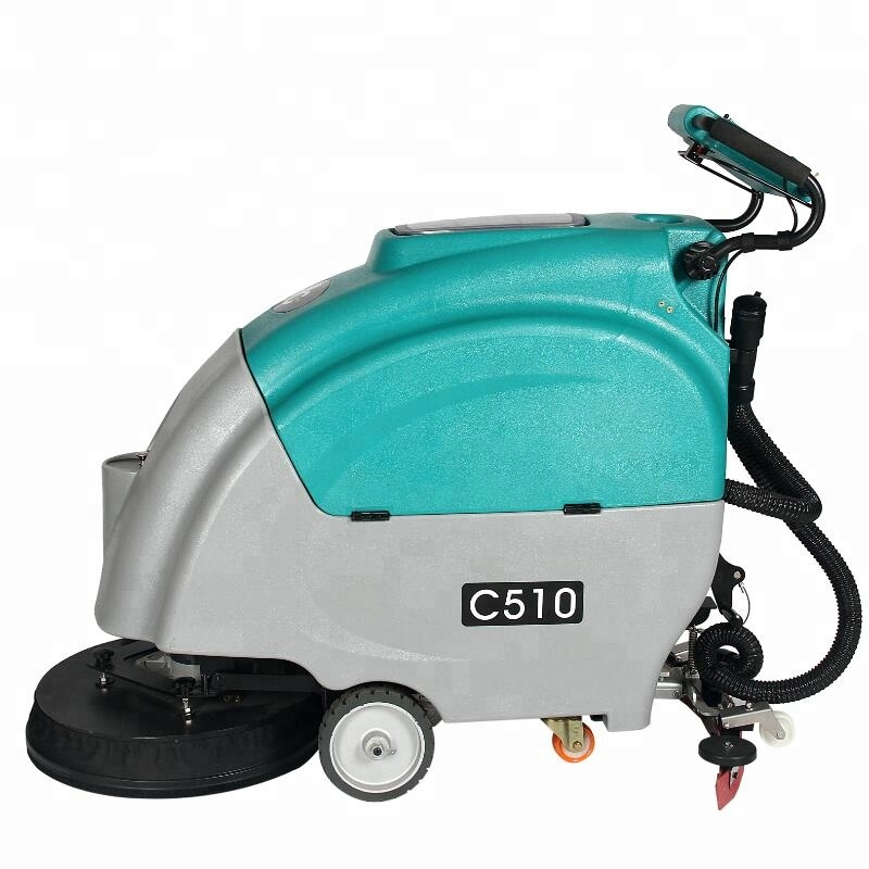 C510 automatic scrubber dryer marble floor cleaning machine with huge tank