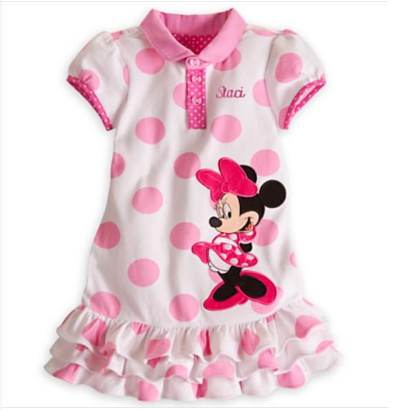 2e1bd616e Get Quotations · Summer Girls Minnie dress princess Dress cartoon pink Minnie  Mouse Baby dress Dot Girl Dress