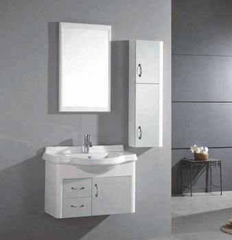 Wall Mounted Simple Bathroom Sink Base Vanity Cabinets Units