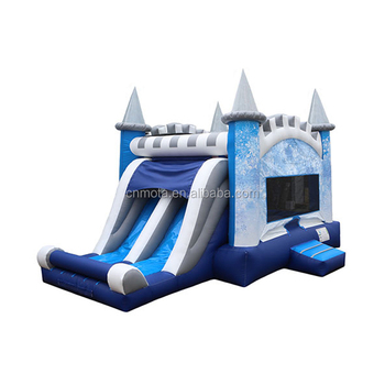 Children ice princess inflatable frozen bouncy castle combo