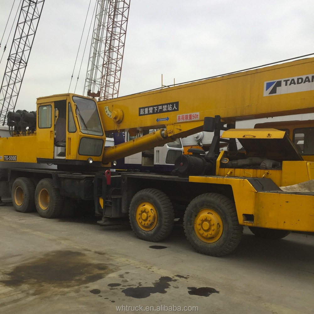 TADANO TG500E 50 ton used wheel Mobile Crane/Used Truck Crane