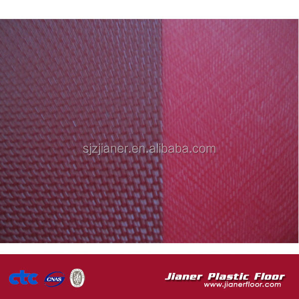 Red color PVC indoor tennis court flooring for public place