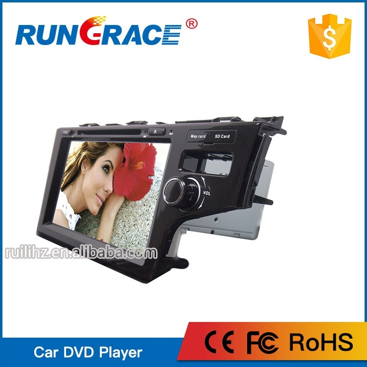 Big HD touch screen smart pure android auto car dvd player for honda Jazz