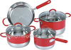 red high end cookware products
